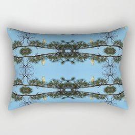 White Egret 2 Rectangular Pillow