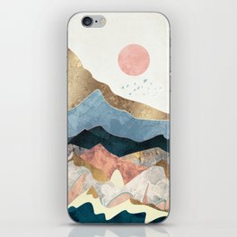 Golden Peaks iPhone Skin