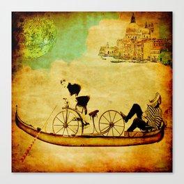 The gondola bicycle ( per Luca ) Canvas Print