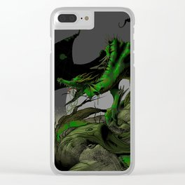 Dungeons, Dice and Dragons, Green Dragon Clear iPhone Case