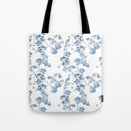 Chinoiserie in White Tote Bag