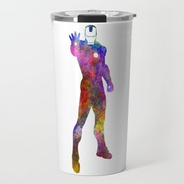 Iron man 01 in watercolor Travel Mug