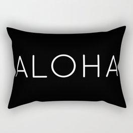 ALOHA (BLACK) Rectangular Pillow