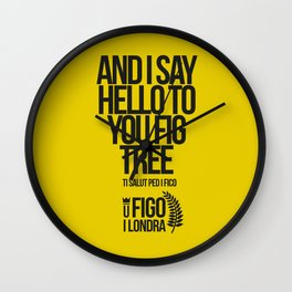 TI SALUTO PED I FICO Wall Clock