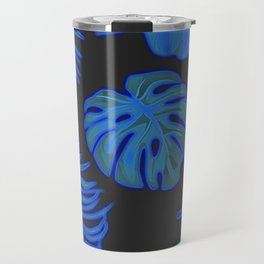 Blue leaves Travel Mug