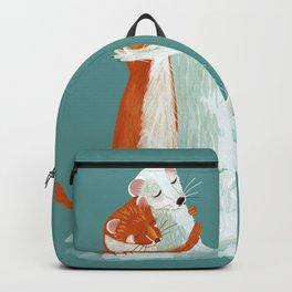 Weasel hugs (cute) Backpack