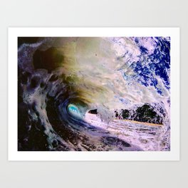 From the stars to the ground, in the water Art Print