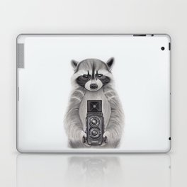 Raccoon Measuring Light / Mapache Midiendo la Luz Laptop & iPad Skin