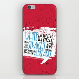 There Shouldn't Be A Default - Simon vs the Homo Sapiens Agenda book quote design iPhone Skin