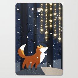 Fox and stars Cutting Board