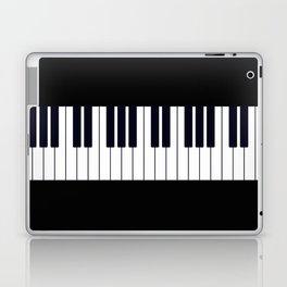 Piano Keys - Black and white simple piano keys pattern minimalistic music themed artwork Laptop & iPad Skin
