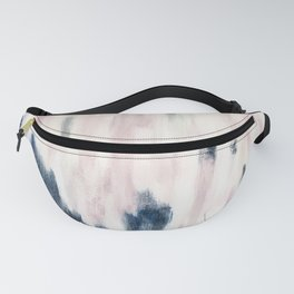 Blush Pink and Blue Pretty Abstract Fanny Pack