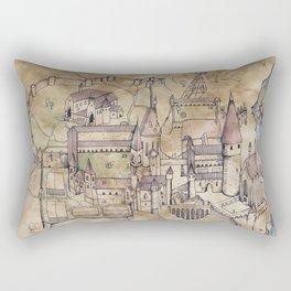 Hogwarts Map Rectangular Pillow