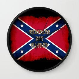 Heritage, not Hatred - US Southern Cross Flag Wall Clock