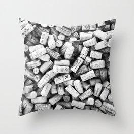 Something Nostalgic II Twist-off Wine Corks in Black And White #decor #society6 #buyart Throw Pillow