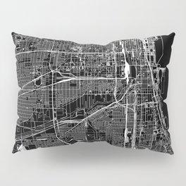 Chicago Black Map Pillow Sham