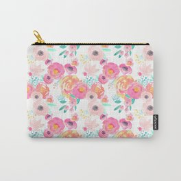 Indy Bloom Design Blush White Florals Carry-All Pouch