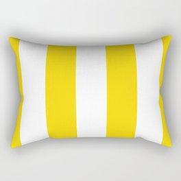 Retro 60s Big Surf Yellow Stripe Pattern Rectangular Pillow