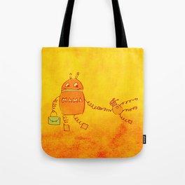 Robomama Robot Mother And Child Tote Bag