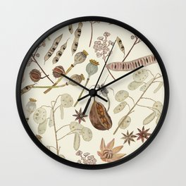 Seed Pods Wall Clock
