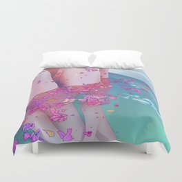 Flower Bath 4 Duvet Cover