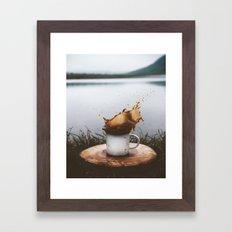 Splash of Coffee Framed Art Print