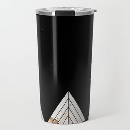 Digital Grain Mountains Travel Mug
