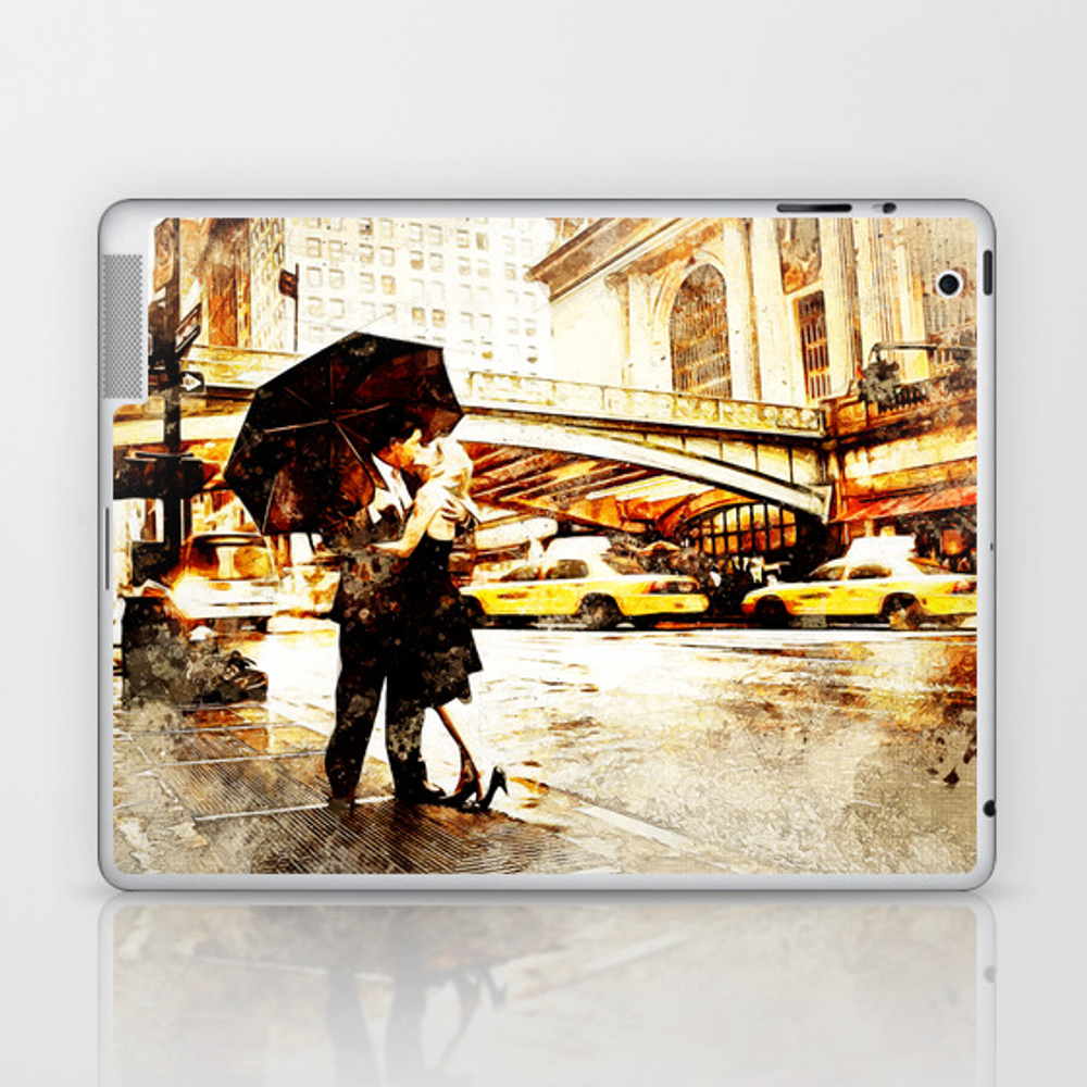 Love In The Rain (loving The Rain) Laptop & Ipad Skin by D77thedigartist LSK8597572