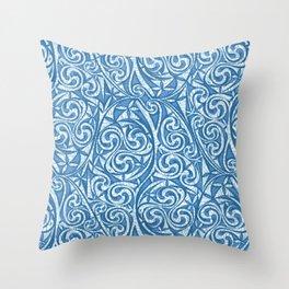Celtic Warrior woad Throw Pillow