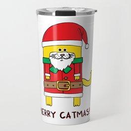 Merry Catmas Travel Mug