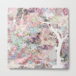 Arlington map Virginia Metal Print