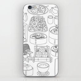 Sunday Dim Sum - Line Art iPhone Skin