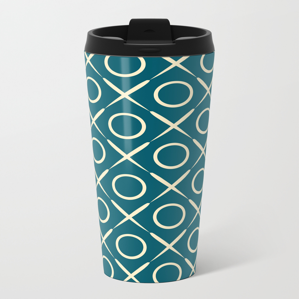 Tic Tac Toe Game Pattern Travel Cup TRM9021491