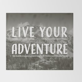 Live Your Adventure Throw Blanket