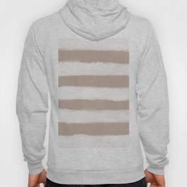 Long Strokes Horizontal Off White on Nude Hoody