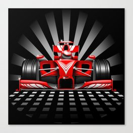 Formula 1 Red Race Car Canvas Print