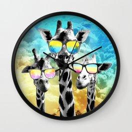 Crazy Cool Giraffe Wall Clock
