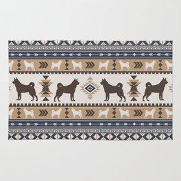 Boho dogs | Elkhound/Jämthund tan Rug