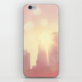 downtown Los Angeles skyline photograph. City of Lights iPhone Skin