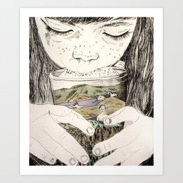 MOUNTAIN MILK Art Print