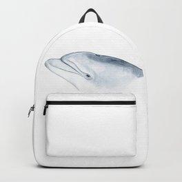 Bottlenose dolphin portrait Backpack