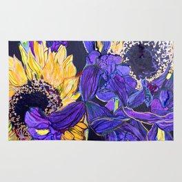 Sunflower & Iris Rug