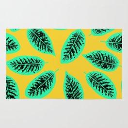 Dieffenbachia tropical leaf pattern Rug
