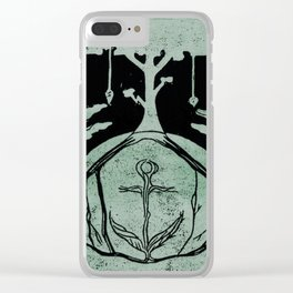 Grounding (Black) Clear iPhone Case