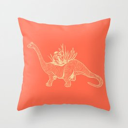Dinoplant Throw Pillow