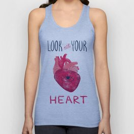 Look with your heart Unisex Tank Top