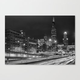 Long Exposure in Chicago Canvas Print