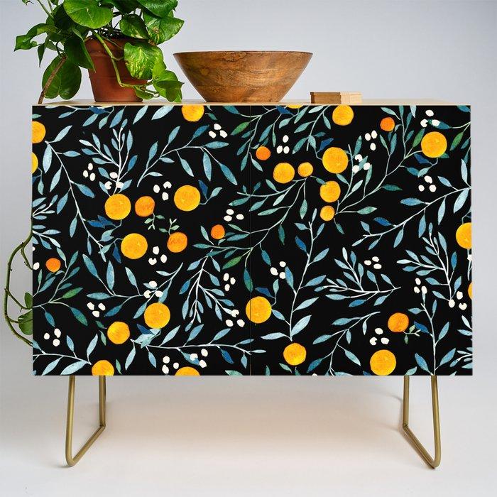Oranges Black Credenza