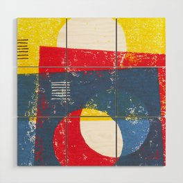 Basic in red, yellow and blue Wood Wall Art