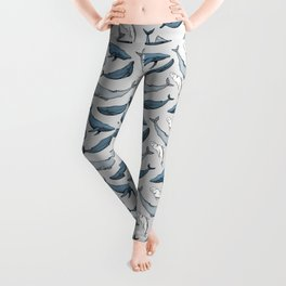 Whales are everywhere Leggings